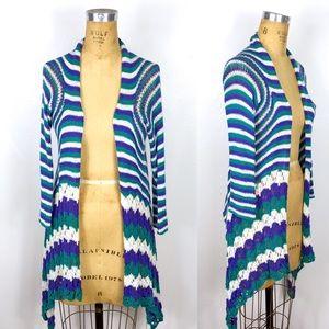 Wooden Ships Crochet Cascading Cardigan